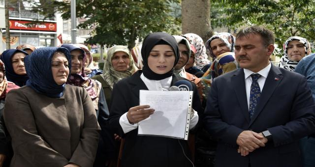 Gümüşhane'deki STK'lardan Diyarbakır'da HDP önünde evlat nöbeti tutan annelere destek