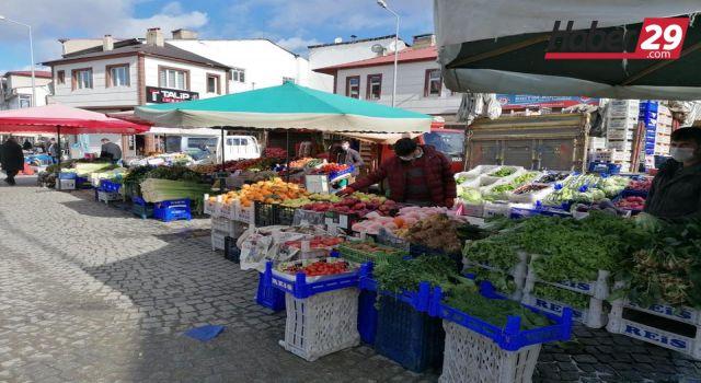 Kelkit Belediyesinden ilçe pazarına Koronavirüs önlemleri