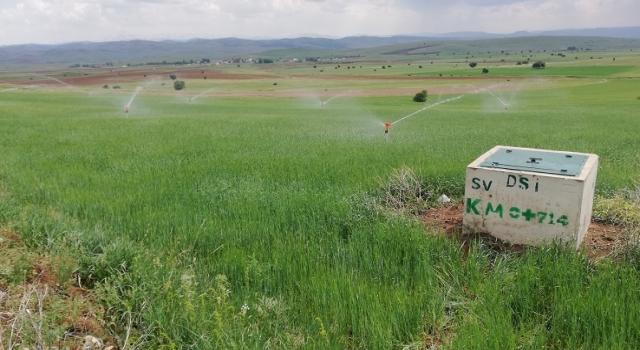 Gümüşhane'de 113 bin 800 dekar tarım arazisinin sulanmasına başladı
