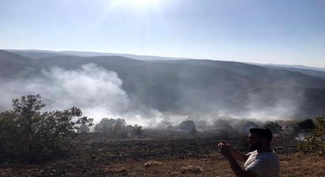 Kelkit'te çalılık yangını: 8 hektar alan zarar gördü