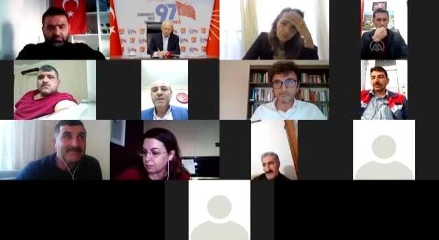Kılıçdaroğlu Muhtarlarla video konferans aracılığıyla görüştü