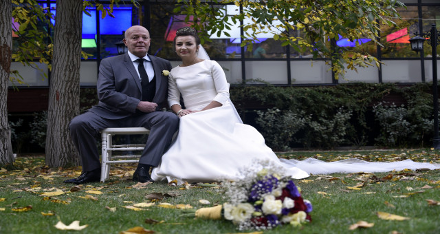 İtalyan ve Bulgar çift 15 yıl önce tanıştıkları Gümüşhane'de nikah kıydı