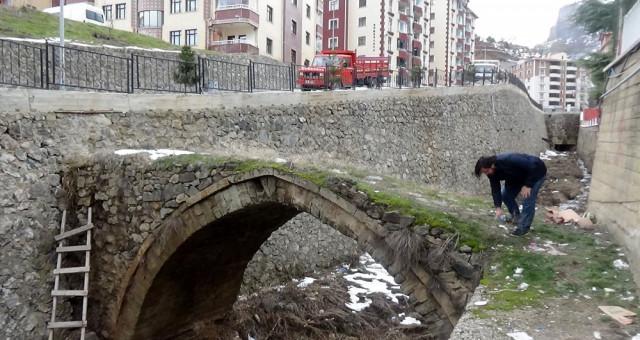 Gümüşhane Tarihi Kemer Köprüde Yıkılma Riski