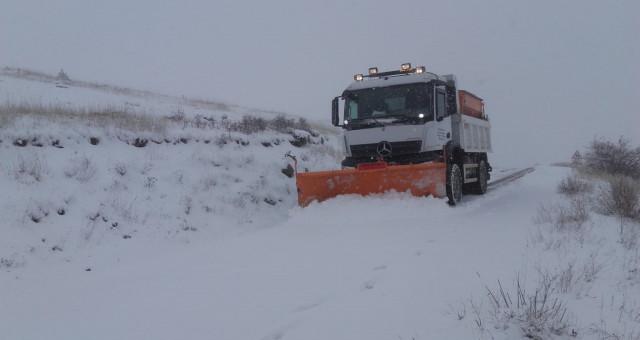 Gümüşhane'de 80 köy yolu kar nedeniyle ulaşıma kapalı