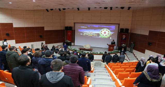 """Gümüşhane Üniversitesinde """"Hocalı Katliamı"""" Anma Programı Düzenlendi"""