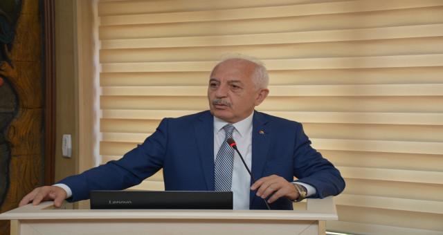 GTSO Başkanı İsmail Akçay Gümüşhane İl Genel Meclisinin konuğu oldu