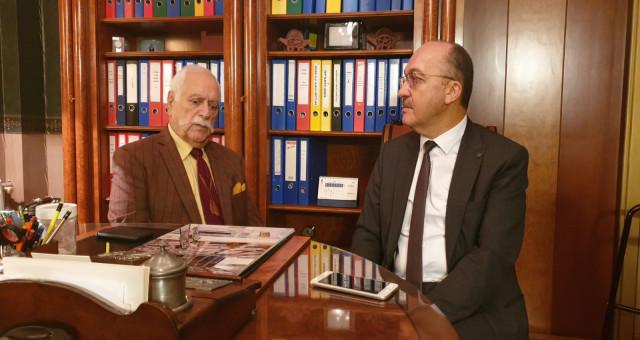 Gümüşhane Üniversitesi Rektörü Prof. Dr. Halil İbrahim Zeybek Rafet Ataç ile Buluştu