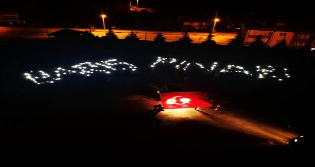 Şiran'da üniversite Öğrencilerinden Barış Pınarı Harekatı'na Destek