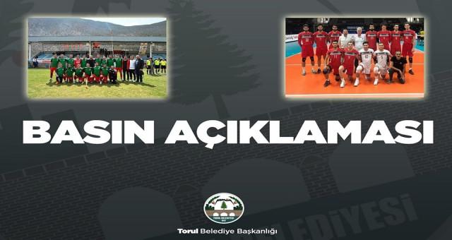 Torul Belediye Spor Kulübümüze ve Torul Gençlik voleybol takımımıza desteklerimizi sürdürmeye devam edeceğiz