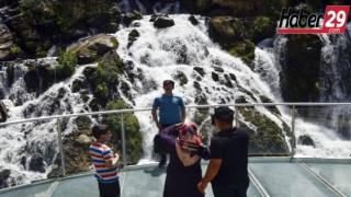 Tomara Şelalesi'ne ilk ulusal tur kafilesi geldi