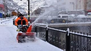 Gümüşhane Belediyesi Kar Temizliği Çalışması Yaptı