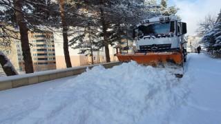 Gümüşhane'de yoğun kar yağışı