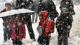Gümüşhane'de kar tatili