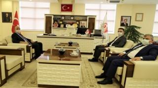 Kürtün Kaymakamı ve Belediye Başkanından Rektörümüze Nezaket Ziyareti