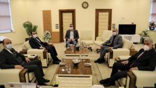 Cumhurbaşkanlığı Millet Kütüphanesi Daire Başkanı Tuğlu'dan Rektöre Ziyaret