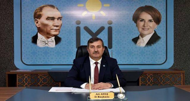 İyi Parti İl Başkanı Ali Ateş'den Zafer Bayramı Mesajı