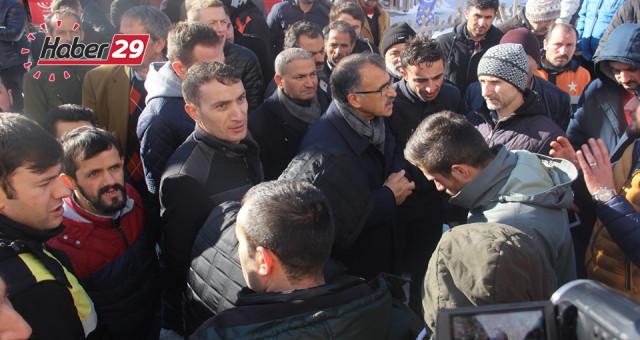 Gümüşhane'de 3 Aydır Maaş Alamayan İşçiler Eylem Yaptı