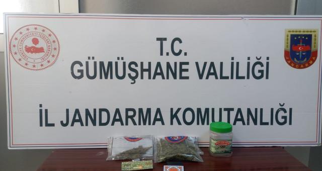 Torul Jandarma'dan Uyuşturucu Operasyonu