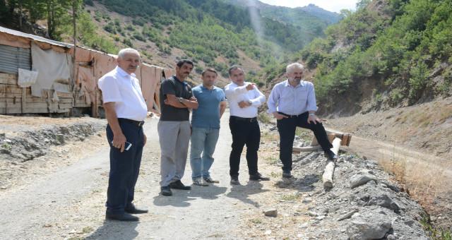 İl Genel Meclisi Başkanımız Sayın Mehmet Emin Erdoğdu, Üçkol (Bolodor) Köyünde incelemelerde bulundu