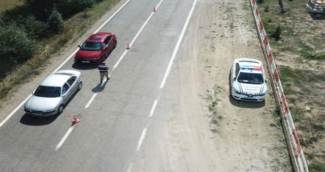 Jandarmadan Drone İle Trafik Kontrolü